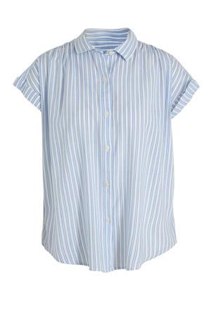gestreepte blouse blauw