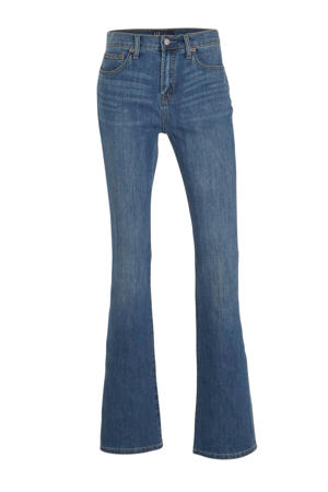 high waist flared jeans blauw