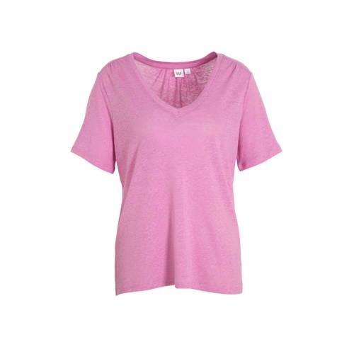 GAP T-shirt met linnen roze