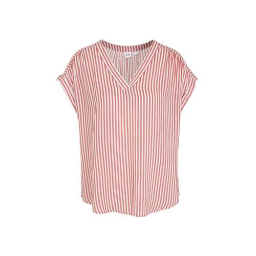 GAP gestreepte top roze/wit