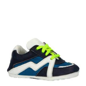 20005  leren babyschoenen blauw