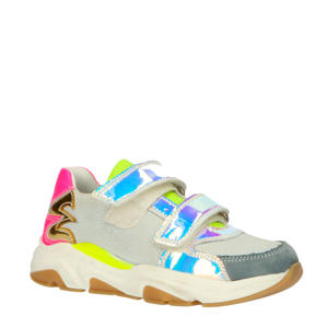 20302  leren sneakers wit/multi