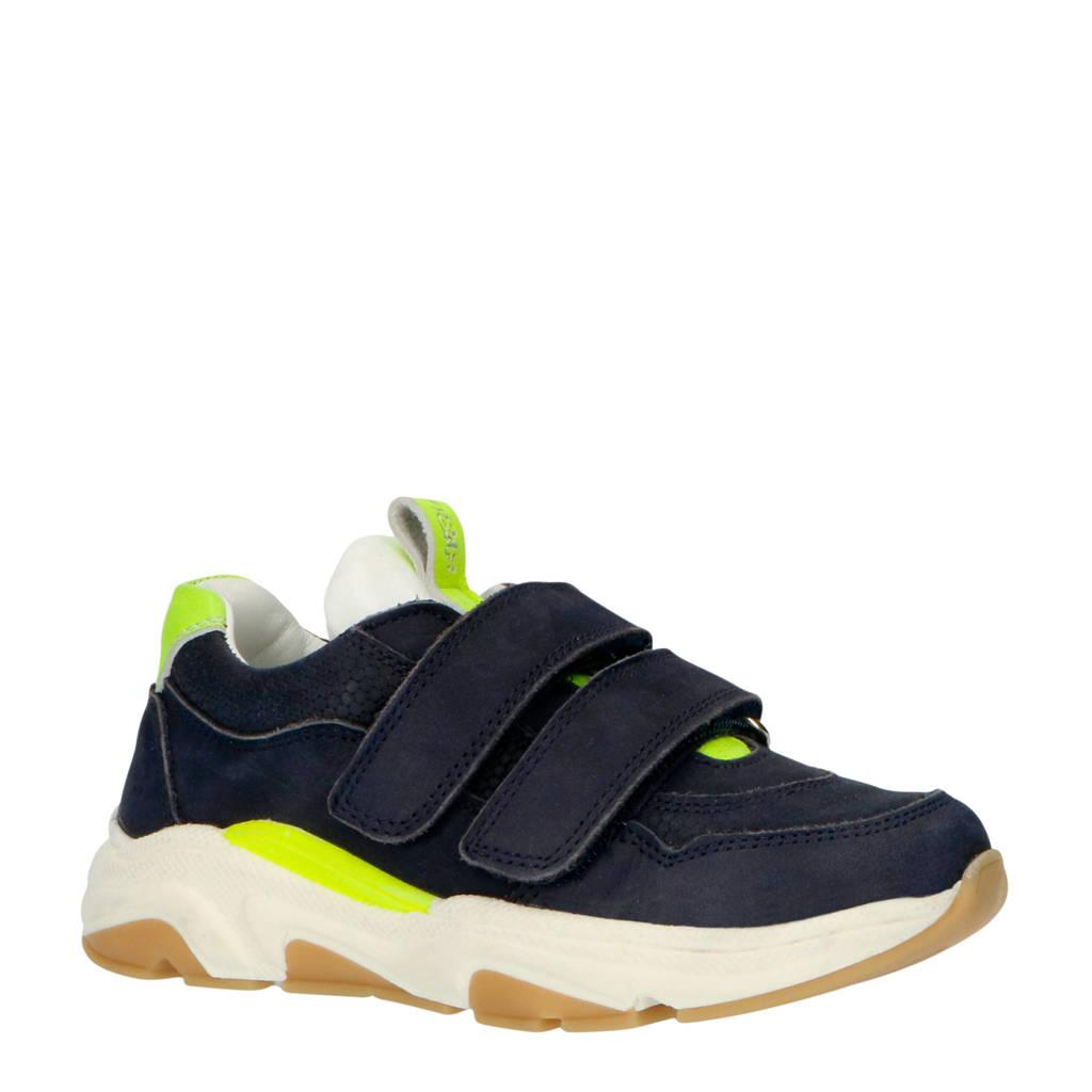 JOCHIE&FREAKS 20402  leren sneakers blauw, Blauw