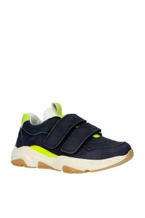 20402  leren sneakers blauw
