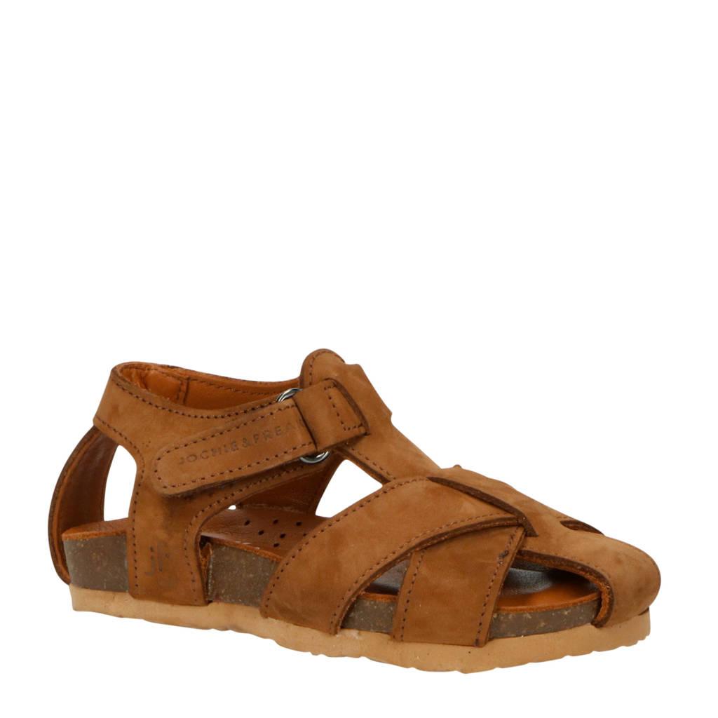 JOCHIE&FREAKS 20706  leren sandalen bruin, Bruin
