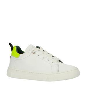 20416  leren sneakers wit