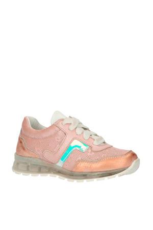 20300  leren sneakers roségoud