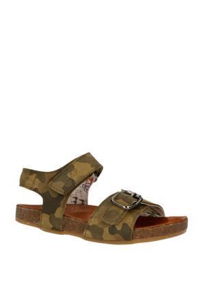 20716  leren sandalen groen