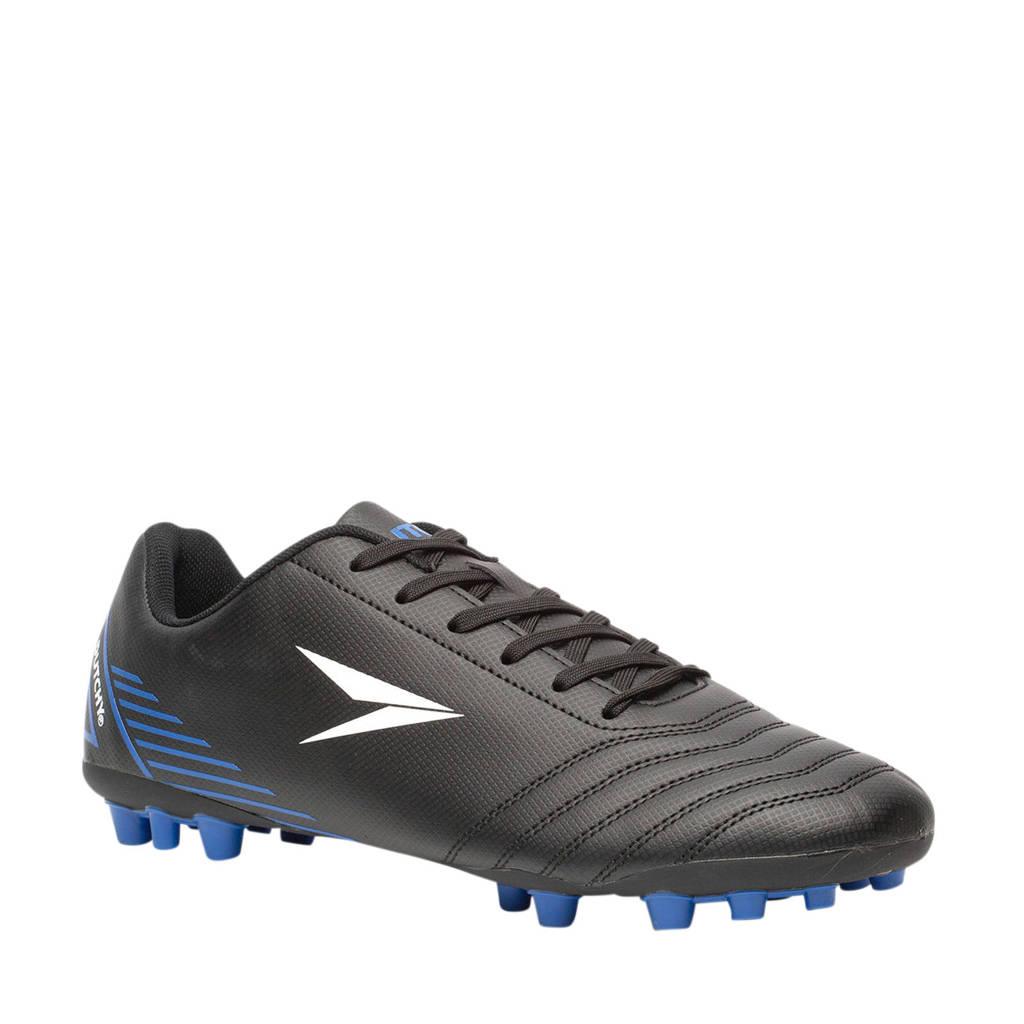 Scapino Dutchy   MG voetbalschoenen zwart/blauw, Zwart/blauw