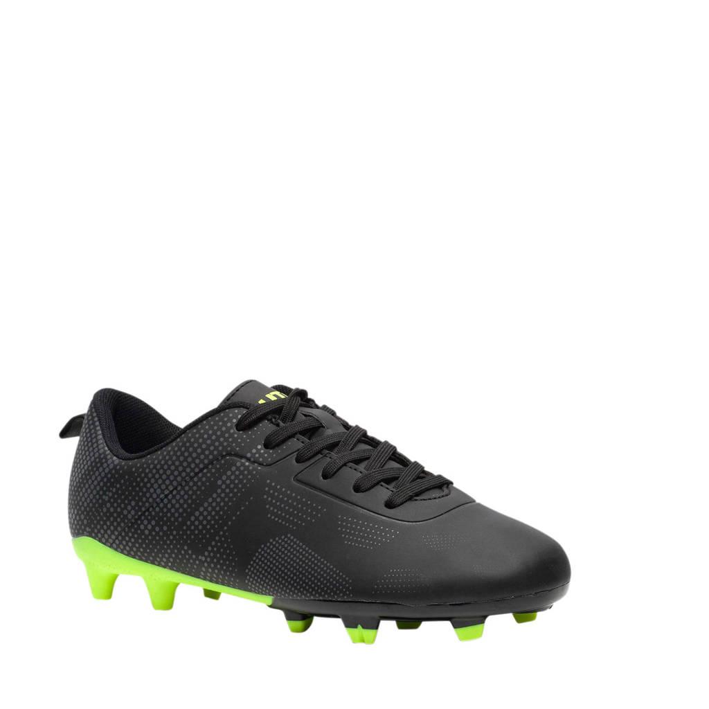 Scapino Dutchy   FG voetbalschoenen zwart/neon geel, Zwart