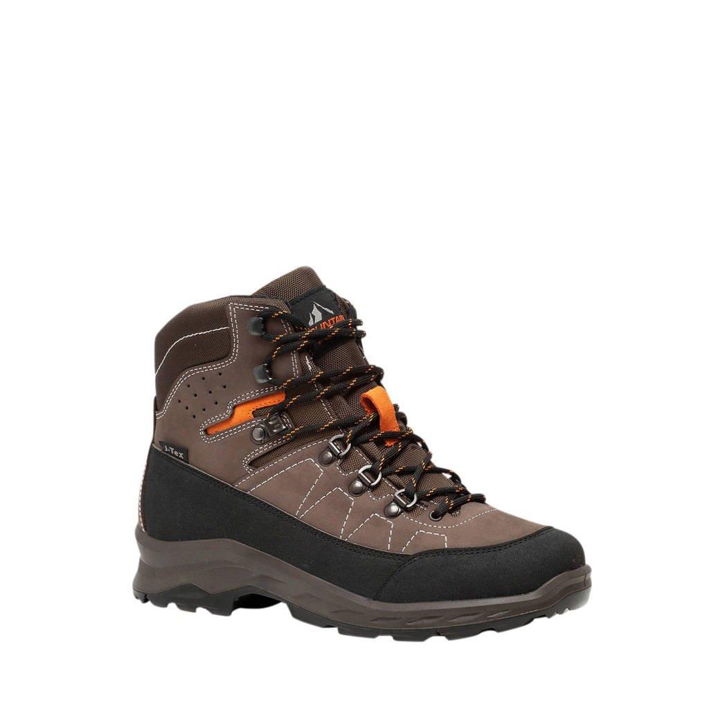 Scapino Mountain Peak   leren wandelschoenen bruin, Bruin/oranje