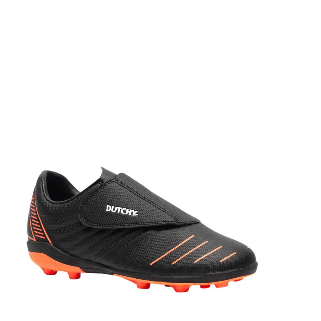 Scapino Dutchy   voetbalschoenen zwart, Zwart/oranje