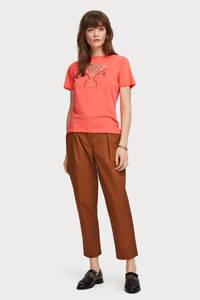 Scotch & Soda T-shirt met printopdruk roze, Roze