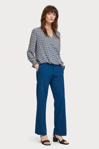 Scotch & Soda loose fit pantalon blauw, Blauw