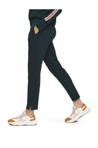 Scotch & Soda cropped high waist tapered fit broek donkergroen, Donkergroen