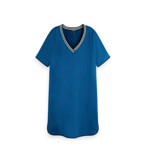 Scotch & Soda jersey jurk met contrastbies bla