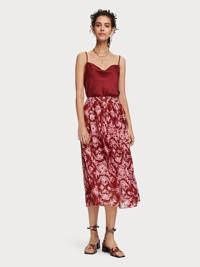 Scotch & Soda rok, Bordeaux/ roze