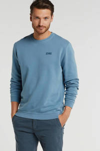 No Excess sweater met logo staal, Staal