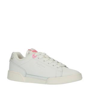 Lambert Girl  leren sneakers wit/roze