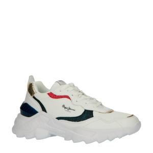 Eccles Clex sneakers met glitter wit/zwart/rood