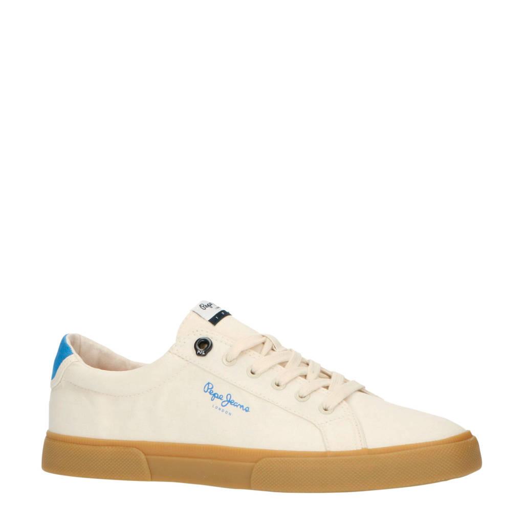 Pepe Jeans Kenton Basic Man  sneakers ecru/blauw, Ecru/blauw