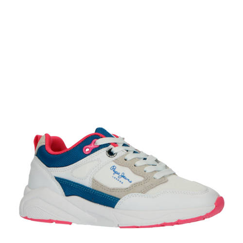 Pepe Jeans Orbital Junior sneakers wit/blauw/roze
