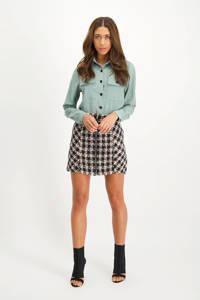 Lofty Manner geruite rok Kaylee zwart/ wit
