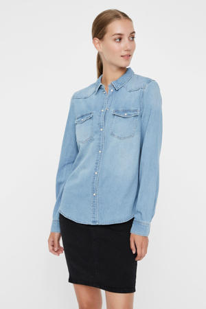 spijkerblouse VMMARIA light blue denim