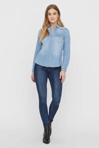 VERO MODA spijkerblouse VMMARIA light blue denim, Blauw