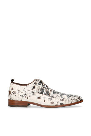 Greg Croco Duo  leren veterschoenen crocoprint