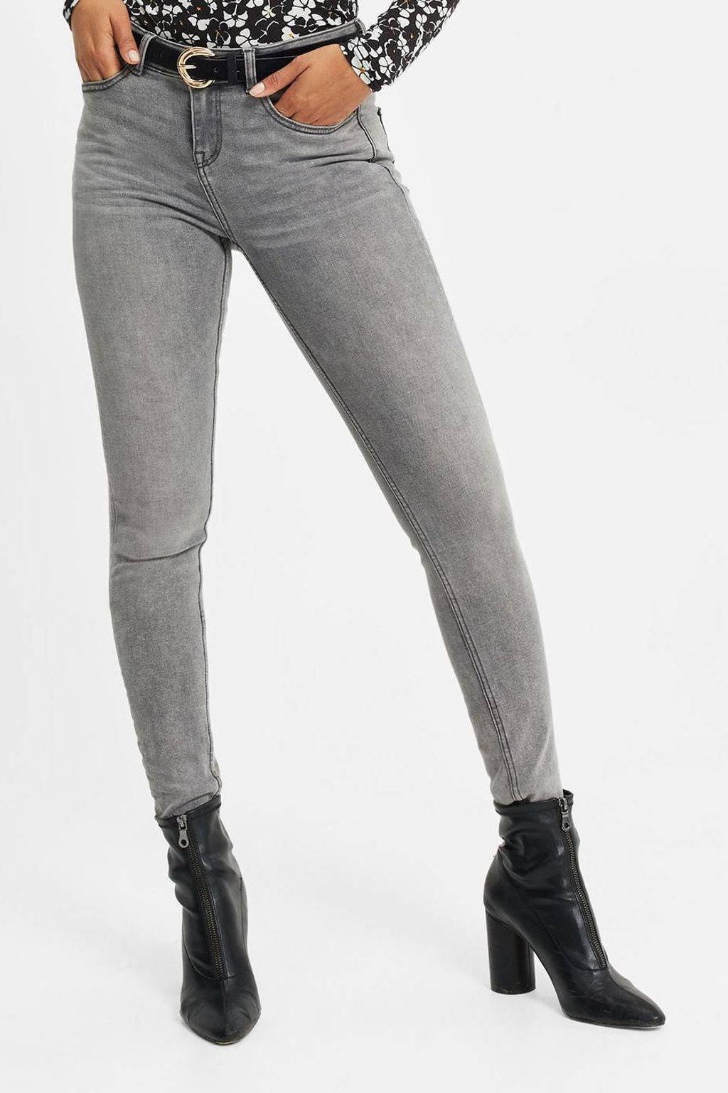 WE Fashion Blue Ridge skinny jeans grijs, Grijs