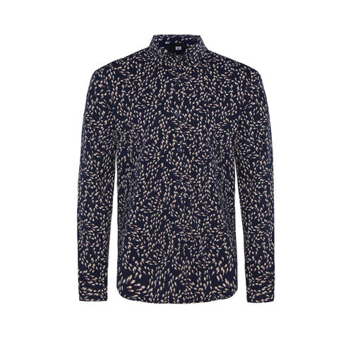 WE Fashion slim fit overhemd met all over print ro