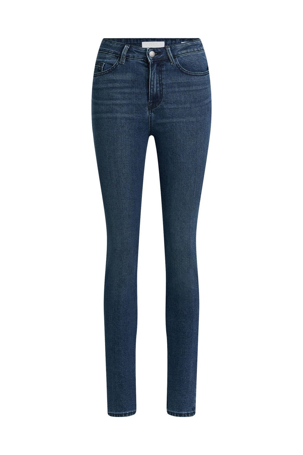 WE Fashion Blue Ridge high waist skinny jeans blue dust, Blue Dust