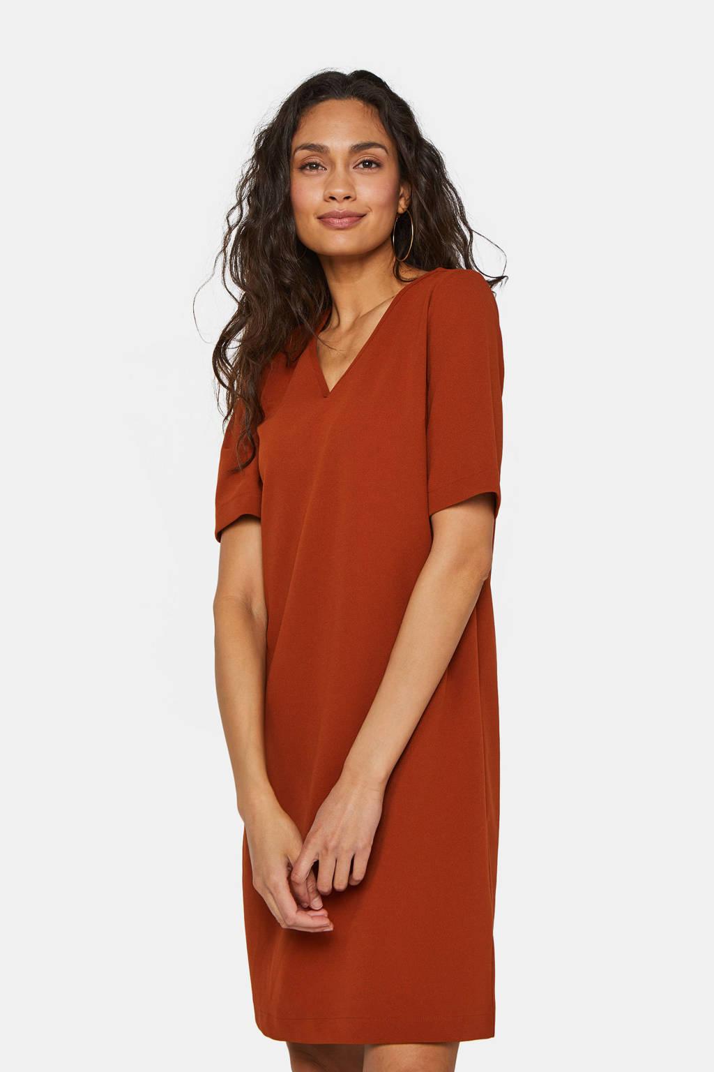 WE Fashion jurk pumpkin red, Pumpkin Red