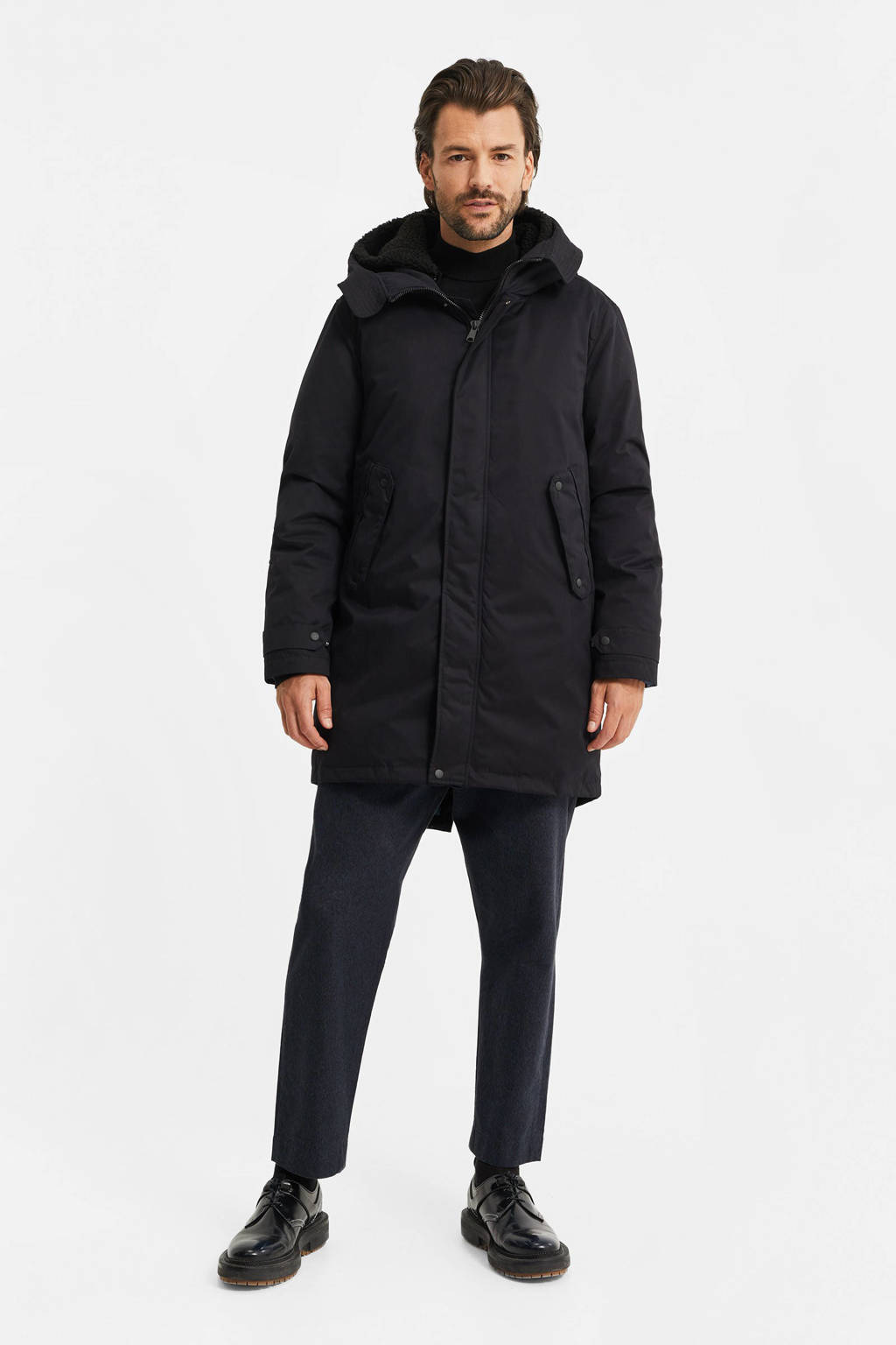 WE Fashion parka zwart, Zwart