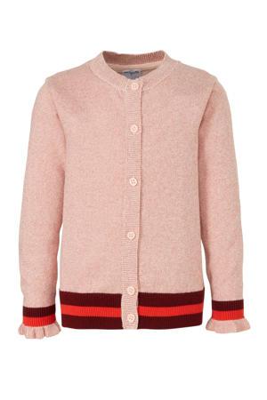 vest met glitters roze/donkerrood/rood