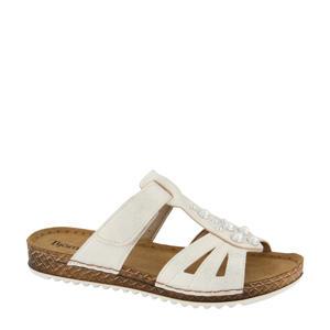 comfort slippers met sierstenen wit