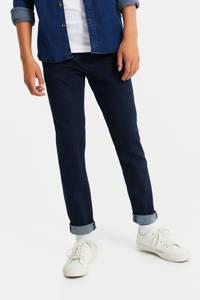 WE Fashion Blue Ridge slim fit chino donkerblauw, Donkerblauw