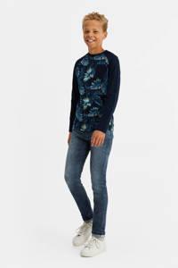 WE Fashion Blue Ridge slim fit jeans grijsblauw, Grijsblauw
