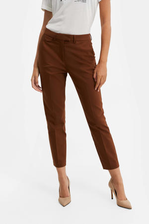 slim fit pantalon maroon brown