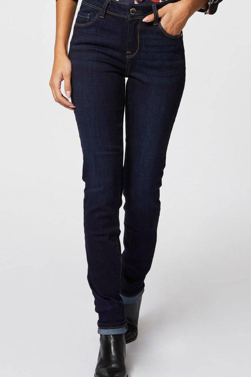 Morgan slim fit jeans donkerblauw, Donkerblauw