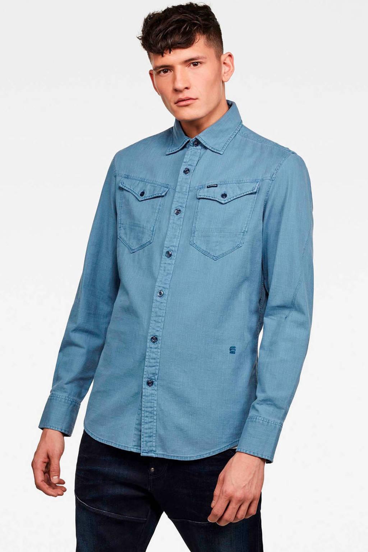 G-Star RAW slim fit overhemd blauw, Blauw