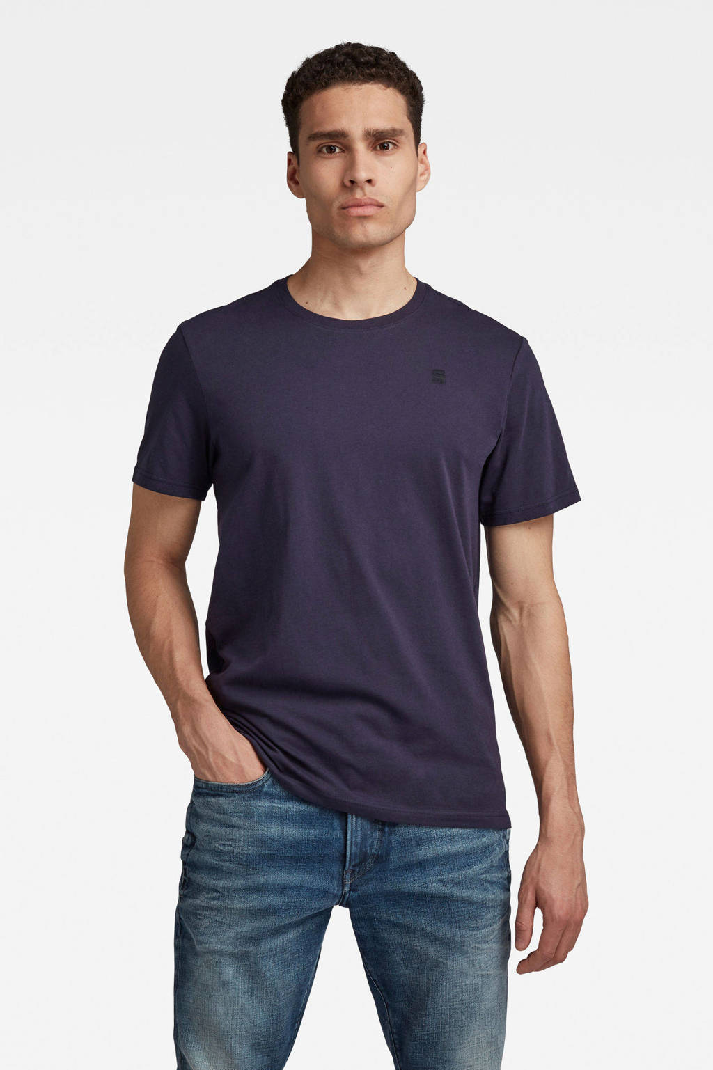 G-Star RAW T-shirt van biologisch katoen sartho blue, SARTHO BLUE