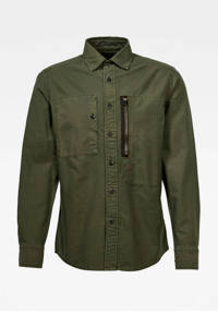 G-Star RAW regular fit overhemd groen, Groen