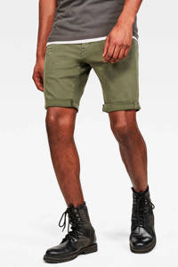 G-Star RAW slim fit jeans short groen, Groen