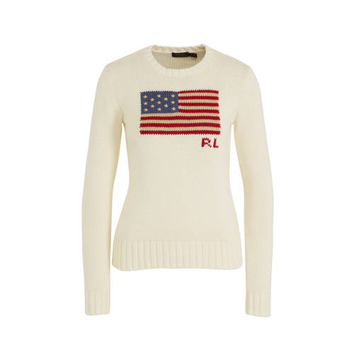 POLO Ralph Lauren gebreide trui met logo wit