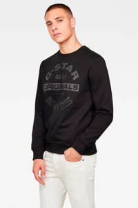 G-Star RAW sweater met logo black, Black