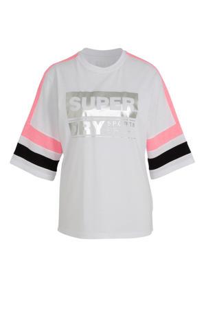 T-shirt wit/zilver