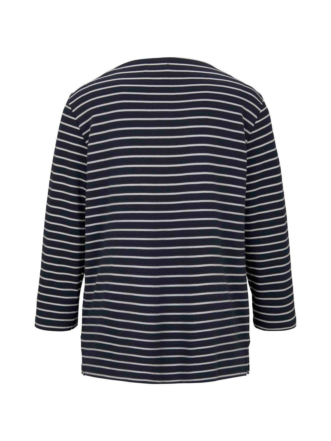 Tom Tailor gestreepte sweater blauw/wit