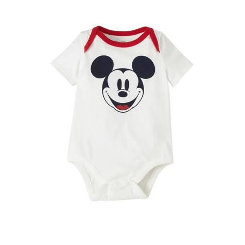 GAP Mickey Mouse romper wit/zwart/rood